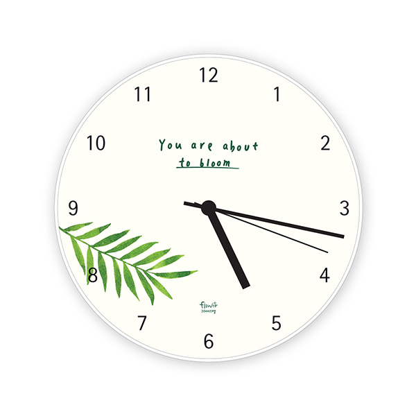 GRACEBELL Flower wall clock 03.White