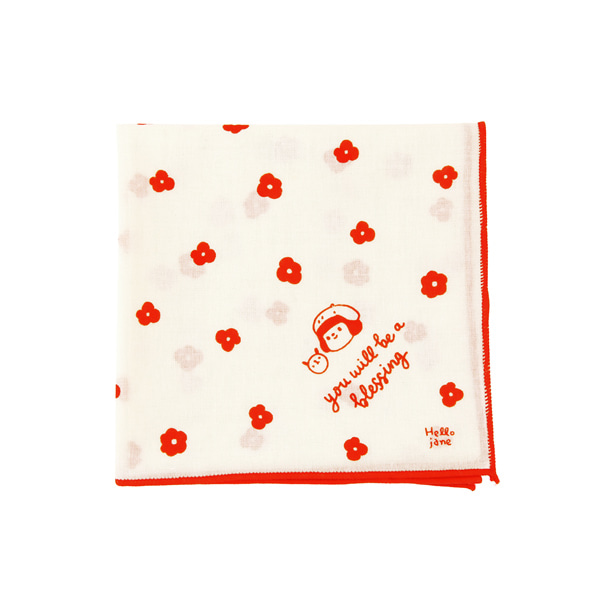 GRACEBELL Handkerchief 03.Red flower