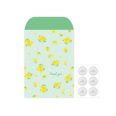 Gift Wrap Envelope Flower Set L-03.Spring Yellow