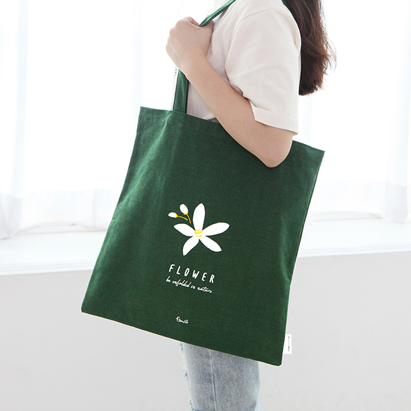 GRACEBELL Flower Eco Bag 06. Green