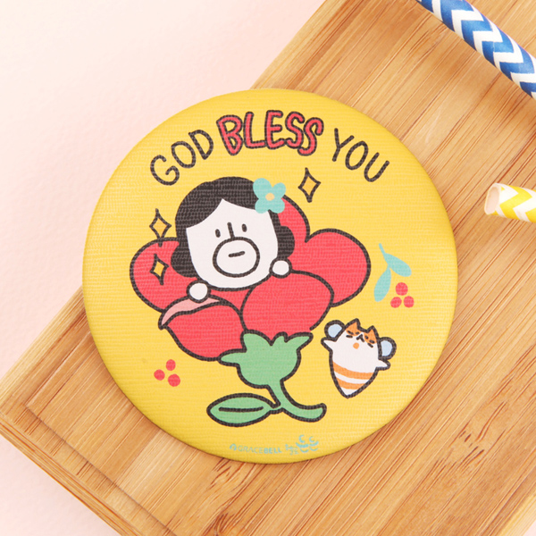 GRACEBELL Hello Dundun hand mirror 01.Bless you