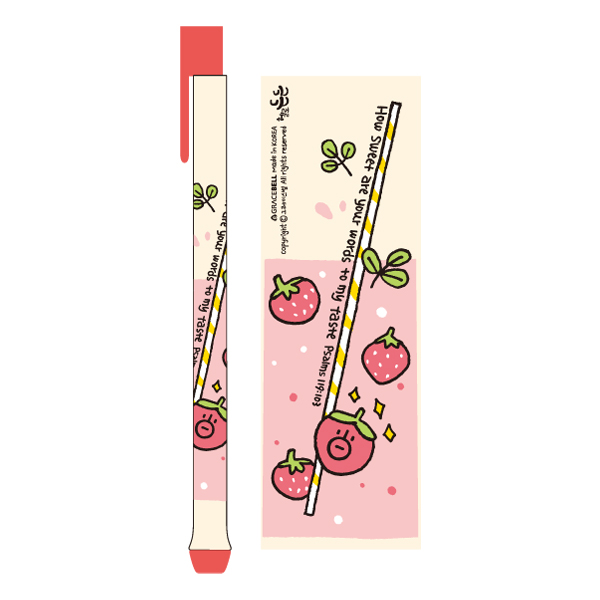 GRACEBELL Hello Dundun ball-point 02.Strawberry