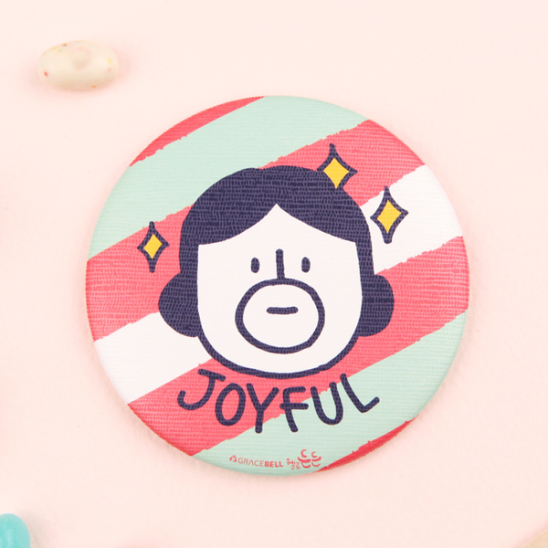 GRACEBELL Hello Dundun hand mirror 02.Joyful