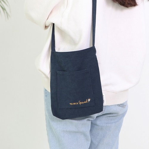 Gracebell Flower Mini Cross Bag 01. Navy