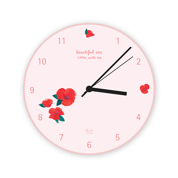 GRACEBELL Flower wall clock 01.Pink