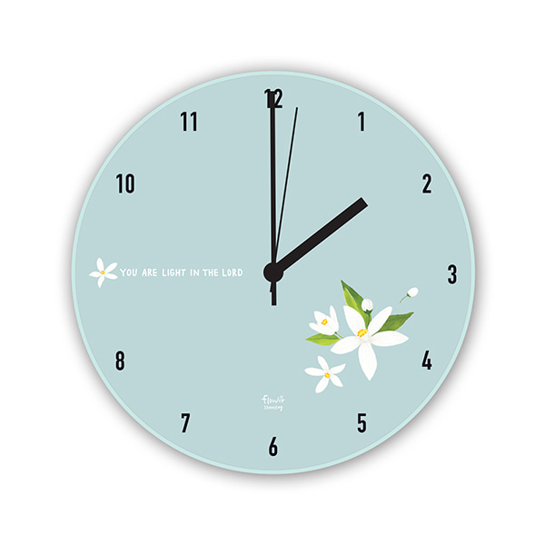 GRACEBELL Flower wall clock 02.MInt