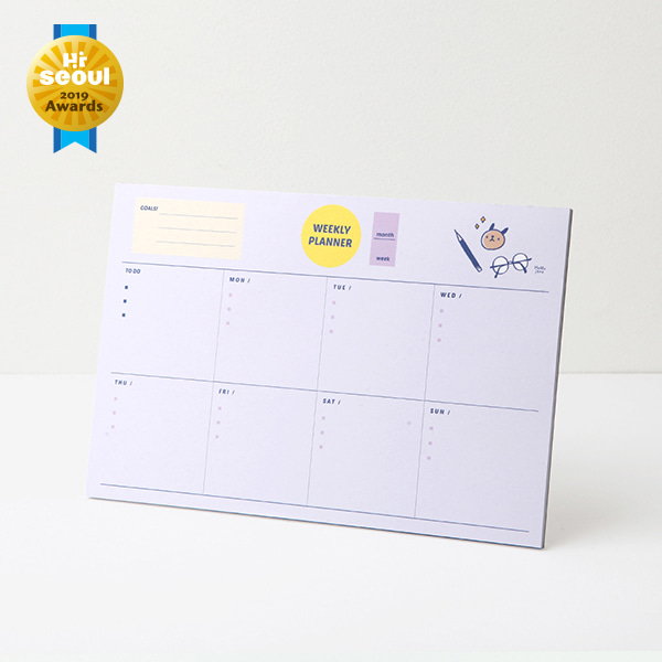 Hello Jane Weekly planner pad 02.Chichi