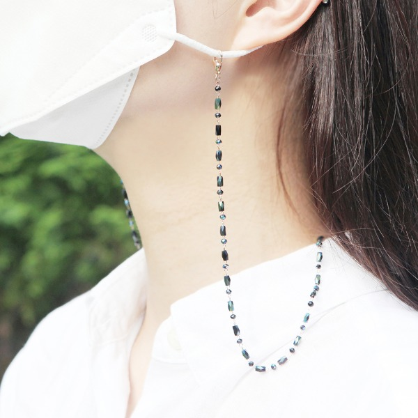 GRACEBELL Mask Strap Jewelry 02.Black Pearl