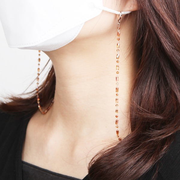 GRACEBELL Mask Strap Jewelry 01.Caramel Pearl